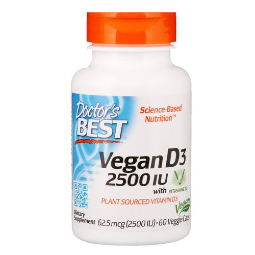 Doctor's Best, Vegan D3 with Vitashine D3, 2,500 IU, 60 Veggie Caps Review