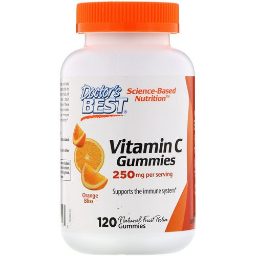 Doctor's Best, Vitamin C Gummies, Orange Bliss, 250 mg, 120 Gummies Review