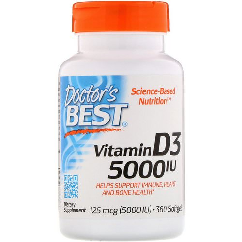 Doctor's Best, Vitamin D3, 125 mcg (5000 IU), 360 Softgels Review