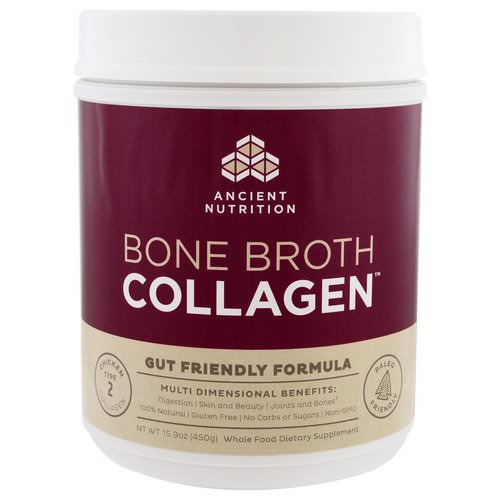 Dr. Axe / Ancient Nutrition, Bone Broth Collagen, Pure, 15.9 oz (450 g) Review