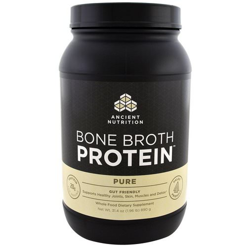 Dr. Axe / Ancient Nutrition, Bone Broth Protein, Pure, 1.96 lbs (890 g) Review