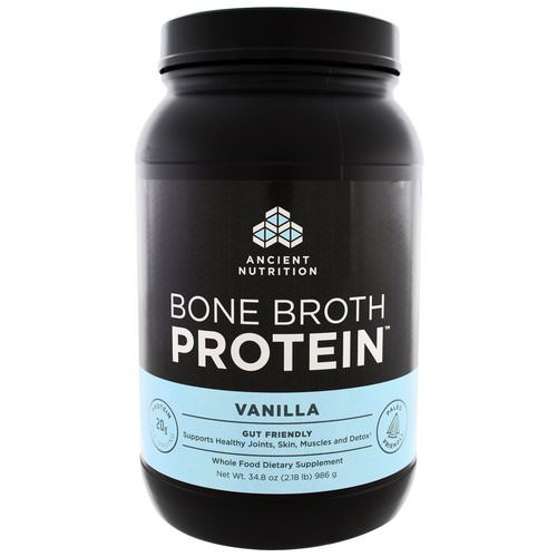Dr. Axe / Ancient Nutrition, Bone Broth Protein, Vanilla, 2.17 lbs (986 g) Review