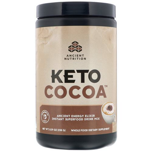 Dr. Axe / Ancient Nutrition, Keto Cocoa, Ancient Energy Elixir, 8.39 oz (238 g) Review