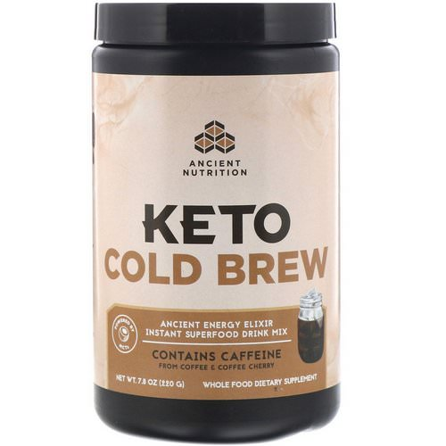 Dr. Axe / Ancient Nutrition, Keto Cold Brew, Ancient Energy Elixir, 7.8 oz (220 g) Review