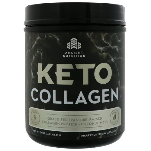 Dr. Axe / Ancient Nutrition, Keto Collagen, Collagen Protein + Coconut MCTs, 1.19 lbs (540 g) Review
