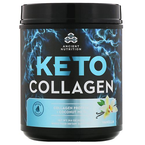 Dr. Axe / Ancient Nutrition, Keto Collagen, Collagen Protein + Coconut MCTs, Vanilla, 14.6 oz (415 g) Review