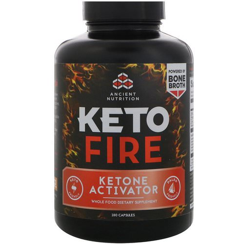 Dr. Axe / Ancient Nutrition, Keto Fire, Ketone Activator, 180 Capsules Review