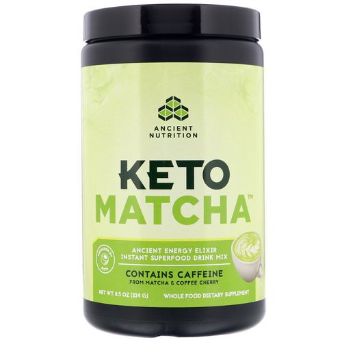 Dr. Axe / Ancient Nutrition, Keto Matcha, Ancient Energy Elixir, 8.5 oz (214 g) Review