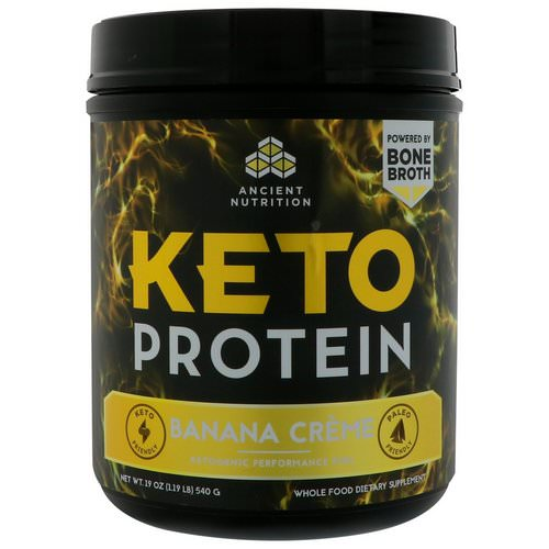 Dr. Axe / Ancient Nutrition, Keto Protein, Ketogenic Performance Fuel, Banana Creme, 19 oz (540 g) Review