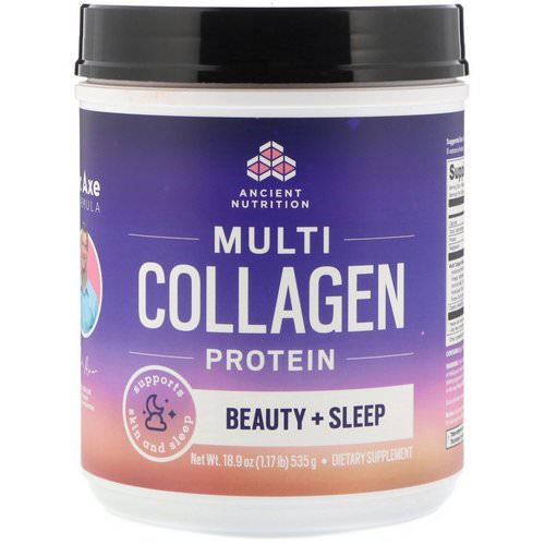 Dr. Axe / Ancient Nutrition, Multi Collagen Protein, Beauty + Sleep, Calming Natural Lavender Flavor, 1.17 lbs (535 g) Review
