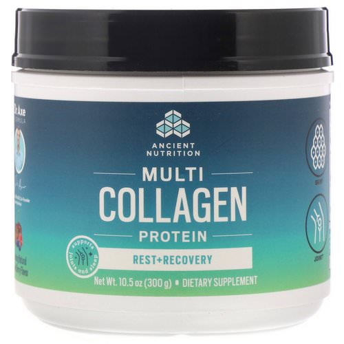 Dr. Axe / Ancient Nutrition, Multi Collagen Protein, Rest + Recovery, Calming Natural Mixed Berry, 10.5 oz (300 g) Review