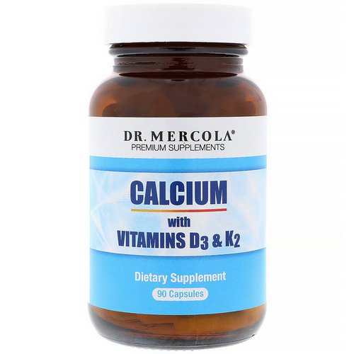 Dr. Mercola, Calcium with Vitamins D3 & K2, 90 Capsules Review