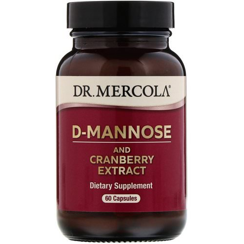 Dr. Mercola, D-Mannose and Cranberry Extract, 60 Capsules Review
