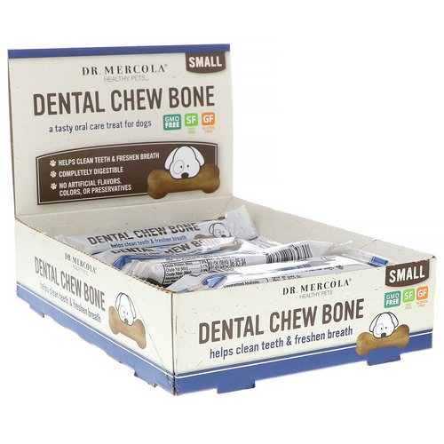 Dr. Mercola, Dental Chew Bone, Small, For Dogs, 12 Bones, 0.77 oz (22 g) Each Review