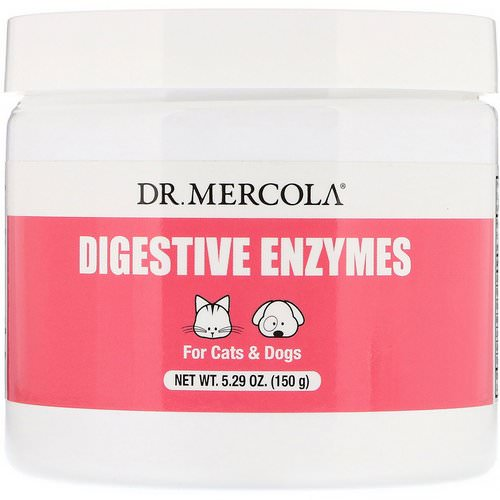 Dr. Mercola, Digestive Enzymes, For Cats & Dogs, 5.29 oz (150 g) Review