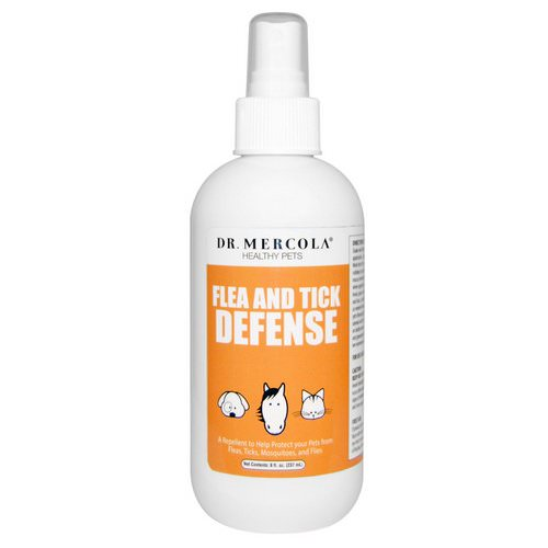 Dr. Mercola, Flea and Tick Defense, For Dogs and Cats, 8 oz (237 ml) Review