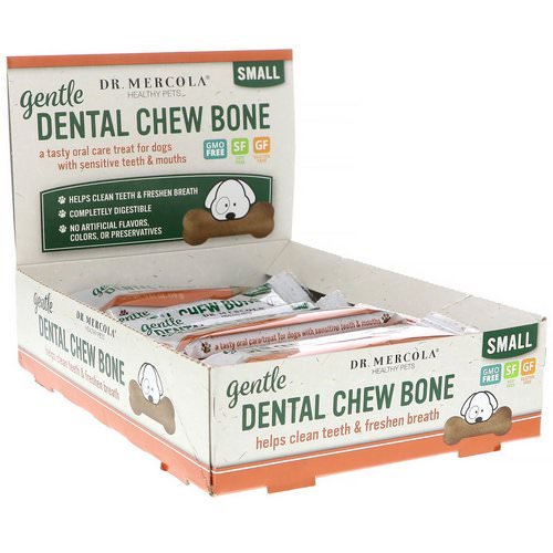 Dr. Mercola, Gentle Dental Chew Bone, Small, For Dogs, 12 Bones, 0.67 oz (19 g) Each Review