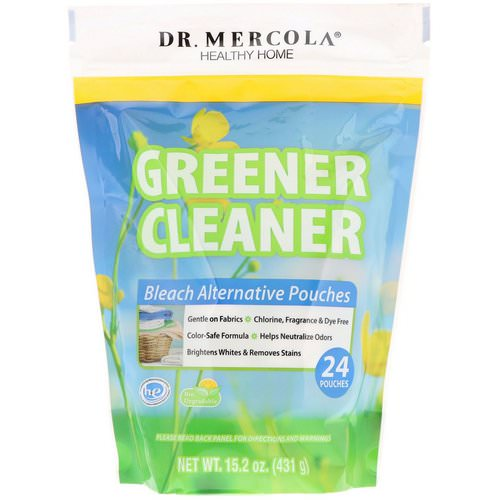Dr. Mercola, Greener Cleaner, Bleach Alternative Pouches, 24 Pouches Review