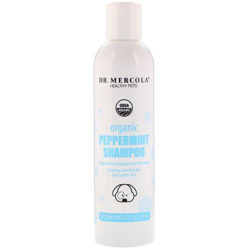 Dr. Mercola, Healthy Pets, Organic Peppermint Shampoo, for Dogs, 8 fl oz (237 ml) Review