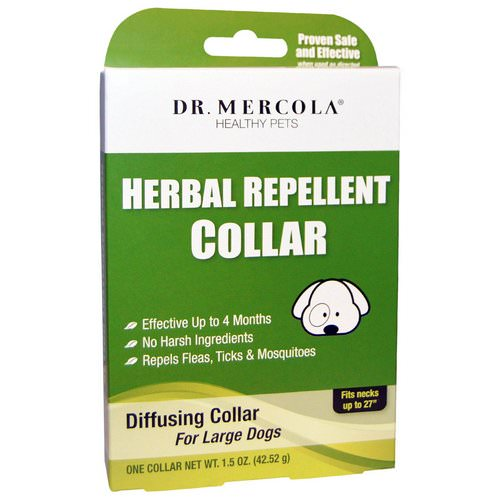 Dr. Mercola, Herbal Repellent Collar for Large Dogs, One Collar, 1.5 oz (42.52 g) Review
