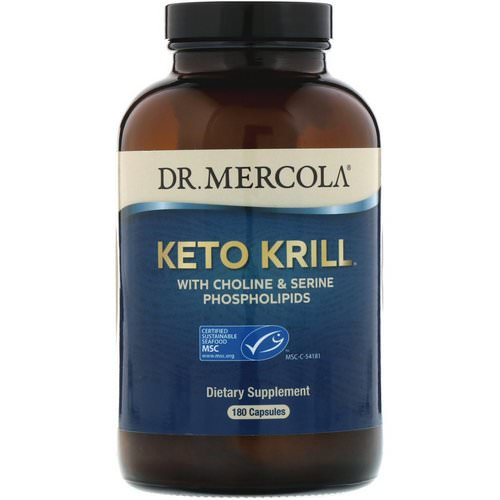 Dr. Mercola, Keto Krill with Choline & Serine Phospholipids, 180 Capsules Review