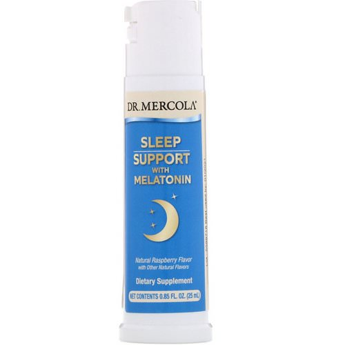 Dr. Mercola, Sleep Support with Melatonin, Natural Raspberry Flavor, 0.85 fl oz (25 ml) Review