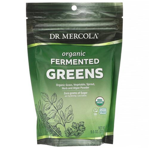 Dr. Mercola, Organic Fermented Greens, 9.5 oz (270 g) Review