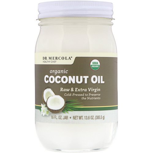 Dr. Mercola, Organic Raw & Extra Virgin Coconut Oil, 13.6 oz (385.5 g) Review