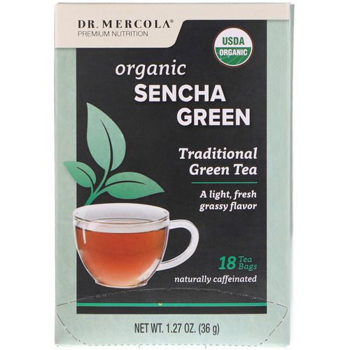 Dr. Mercola, Organic Sencha Green, Traditional Green Tea, 18 Tea Bags, 1.27 oz (36 g) Review
