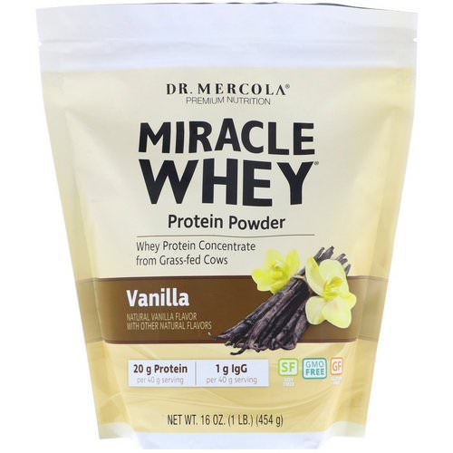 Dr. Mercola, Premium Nutrition, Miracle Whey, Protein Powder, Vanilla, 1 lb (454 g) Review
