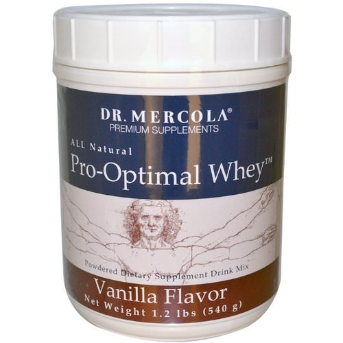 Dr. Mercola, Pro-Optimal Whey, Vanilla Flavor, 1.2 lbs (540 g) Review
