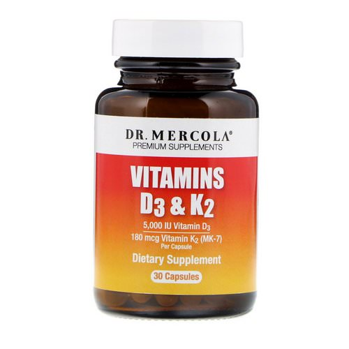 Dr. Mercola, Vitamins D3 & K2, 30 Capsules Review