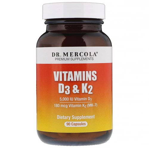 Dr. Mercola, Vitamins D3 & K2, 5,000 IU, 90 Capsules Review