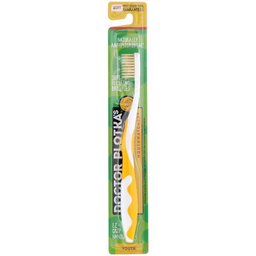 Dr. Plotka, MouthWatchers, Youth, Naturally Antimicrobial Toothbrush, Soft, Yellow, 1 Toothbrush Review