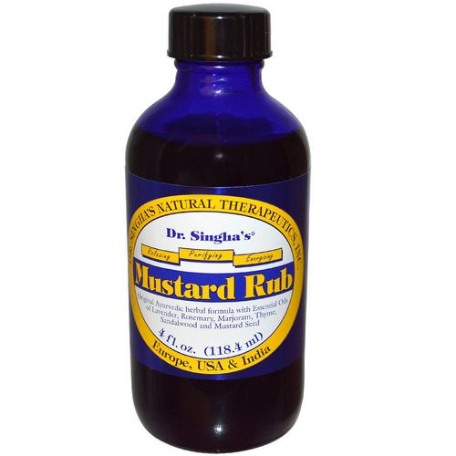 Dr. Singha's, Mustard Rub, 4 fl oz (118.4 ml) Review