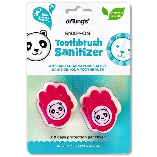 Dr. Tung's, Kid's Snap-On Toothbrush Sanitizer, 2 Toothbrush Sanitizers Review