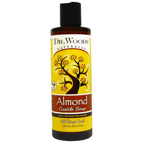 Dr. Woods, Almond Castile Soap with Fair Trade Shea Butter, 8 fl oz (236 ml) Review