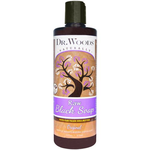 Dr. Woods, Raw Black Soap with Fair Trade Shea Butter, Original, 16 fl oz (473 ml) Review