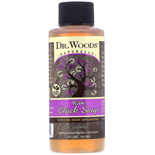 Dr. Woods, Raw Black Soap, with Fair Trade Shea Butter, Original, 2 fl oz (59 ml) Review