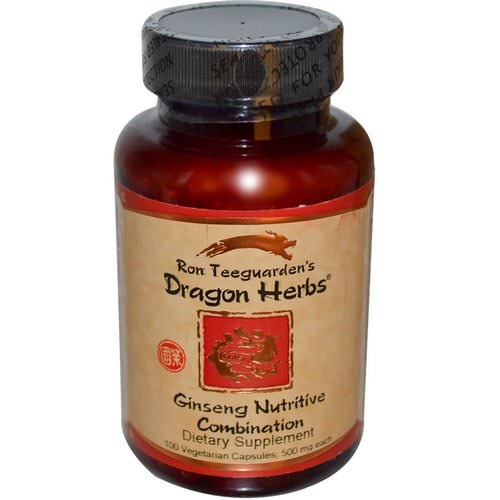 Dragon Herbs, Ginseng Nutritive Combination, 500 mg, 100 Veggie Caps Review