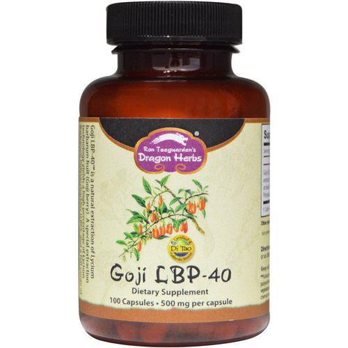 Dragon Herbs, Goji LBP-40, 500 mg, 100 Capsules Review