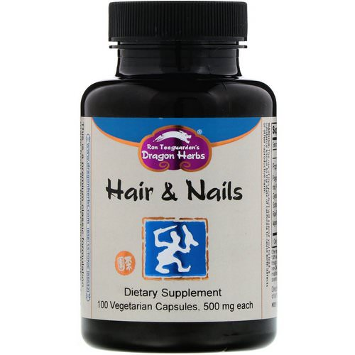 Dragon Herbs, Hair & Nails, 500 mg, 100 Vegetarian Capsules Review