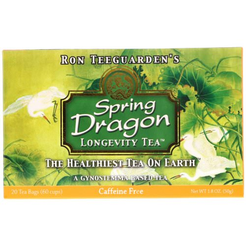 Dragon Herbs, Spring Dragon Longevity Tea, Caffeine Free, 20 Tea Bags, 1.8 oz (50 g) Review