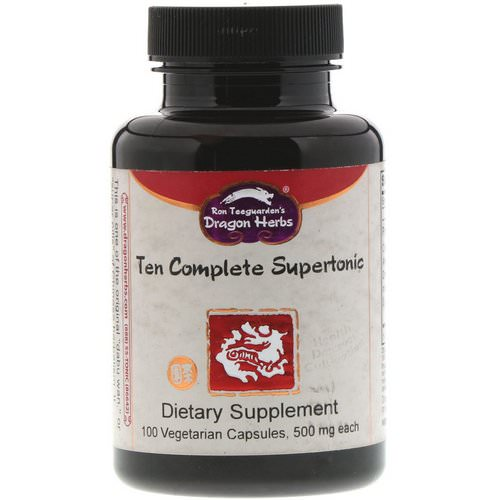 Dragon Herbs, Ten Complete Supertonic, 500 mg, 100 Vegetarian Capsules Review