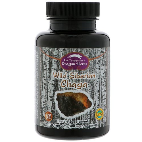 Dragon Herbs, Wild Siberian Chaga, 500 mg, 100 Capsules Review