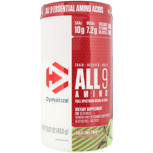 Dymatize Nutrition, All 9 Amino, Cola Lime Twist, 15.87 oz (450 g) Review