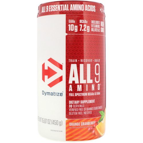 Dymatize Nutrition, All 9 Amino, Orange Cranberry, 15.87 oz (450 g) Review