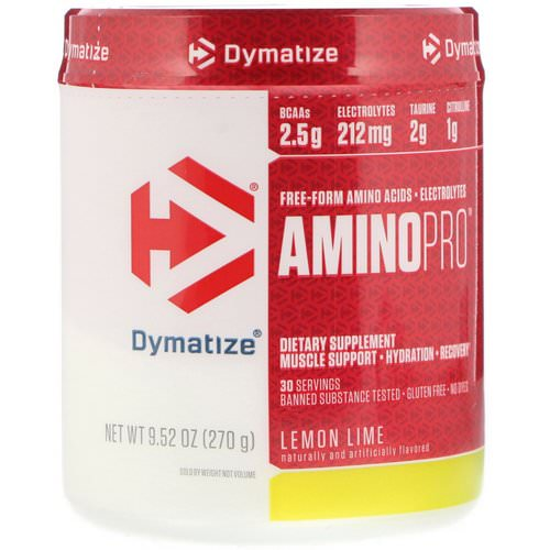Dymatize Nutrition, AminoPro, Lemon Lime, 9.52 oz (270 g) Review