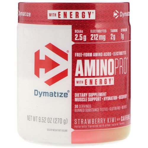 Dymatize Nutrition, AminoPro with Energy, Strawberry Kiwi with Caffeine, 9.52 oz (270 g) Review
