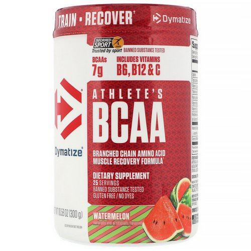 Dymatize Nutrition, Athlete's BCAA, Watermelon, 10.58 oz (300 g) Review
